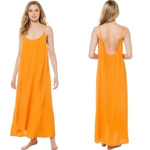 9Seed Orange Maxi Dress - one size fits all